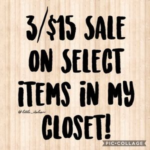 Other - 3 items for $15 Sale